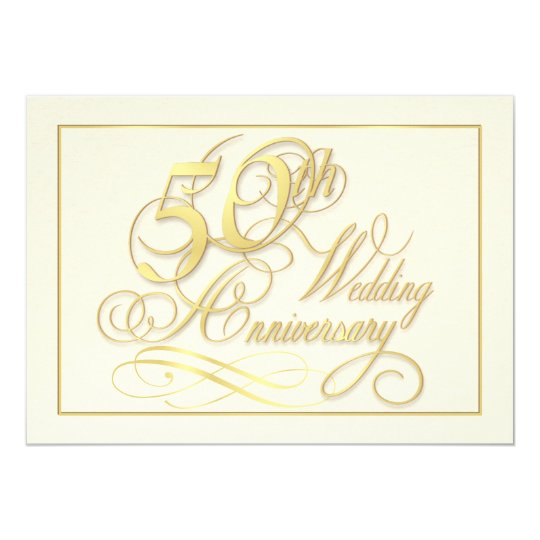 elegant 50th anniversary invitations inexpensive zazzle com