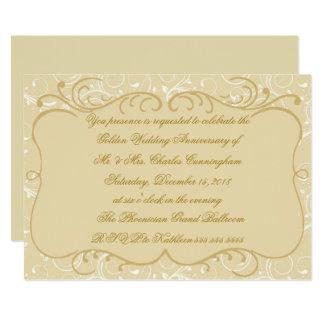 Elegant 50th Anniversary Invite