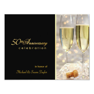 Elegant 50th Anniversary Party Invitations
