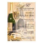 Elegant 50th Anniversary Party Invitations