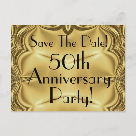 Elegant 50th anniversary save the date postcards zazzle elegant 50th anniversary save the date postcards stopboris Images