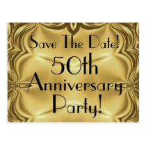 Elegant 50th Anniversary Save The Date Postcards