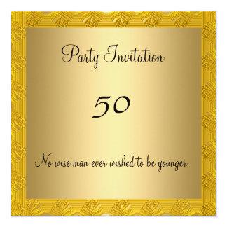 Elegant 50th birthday Gold Invitation