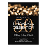 Elegant 50th Birthday Party Gold Hollywood Glam Card at Zazzle