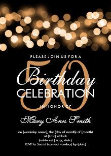 Elegant 50th birthday invitations zazzle elegant 50th birthday party gold hollywood glam invitation filmwisefo