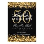 Elegant 50th Birthday Party Sparkles Gold 5x7 Paper Invitation Card