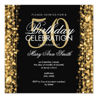 elegant 50th birthday invitations & announcements | zazzle, Birthday invitations