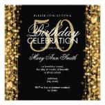 Elegant 50th Birthday Party Sparkles Gold Custom Invitation