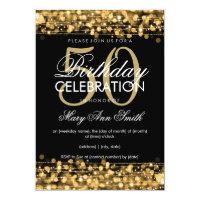 50th birthday invitations zazzle elegant 50th birthday party sparkles gold filmwisefo