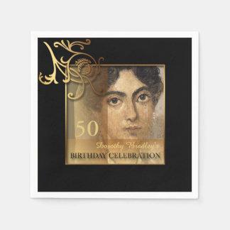 Elegant 50th Birthday Photo Paper Napkins