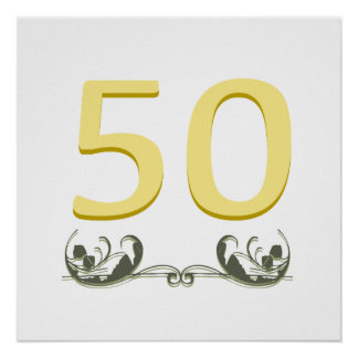 Elegant 50th Gift Posters