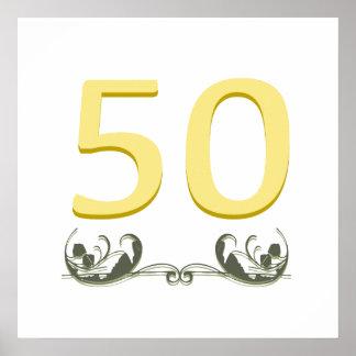 Elegant 50th Gift Poster