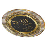 Elegant 50th Golden Anniversary Melamine Plate