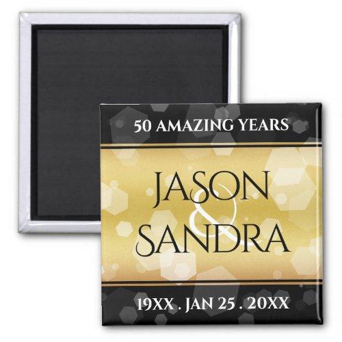 Elegant 50th Golden Wedding Anniversary Magnet