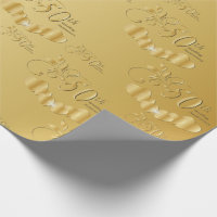 Elegant 50th Golden Wedding Anniversary Wrapping Paper