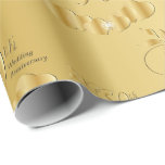 "Elegant 50th Golden Wedding Anniversary Wrapping Paper<br><div class=""desc"">⭐⭐⭐⭐⭐ 5 Star Review . 50th Golden Wedding Anniversary Wrapping Paper in a gold design. ⭐99% of my designs in my store are done in layers. This makes it easy for you to resize and move the graphics and text around so that it will fit each product perfectly. ⭐ (Please...</div>"