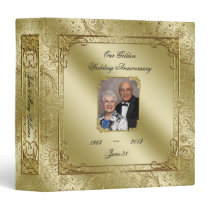 "Elegant 50th Wedding Anniversary 1.5"" Photo Binder"