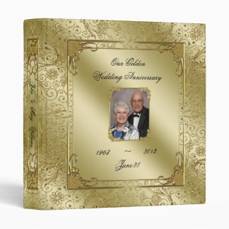 "Elegant 50th Wedding Anniversary 1"" Photo Binder"