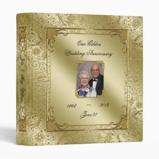 "Elegant 50th Wedding Anniversary 1"" Photo Binder"