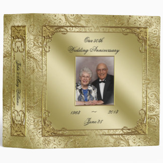 "Elegant 50th Wedding Anniversary 2"" Photo Binder"