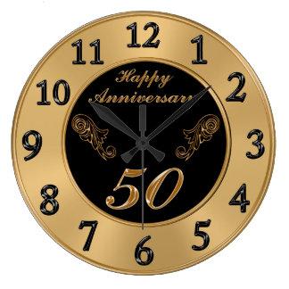 Elegant 50th Wedding Anniversary Clocks Clocks