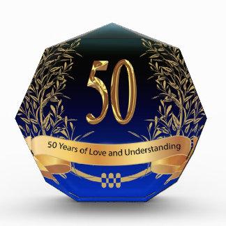 Elegant 50th Wedding Anniversary Gifts Acrylic Award