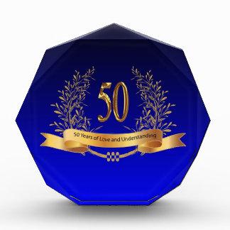 Elegant 50th Wedding Anniversary Gifts Award