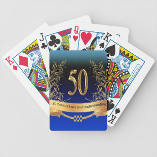 Elegant 50th Wedding Anniversary Gifts Bicycle Playing Cards