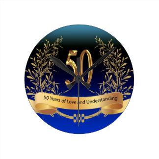 Elegant 50th Wedding Anniversary Gifts Wall Clocks