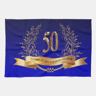Elegant 50th Wedding Anniversary Gifts Hand Towels
