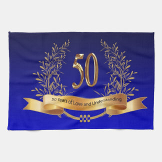 Elegant 50th Wedding Anniversary Gifts Towels