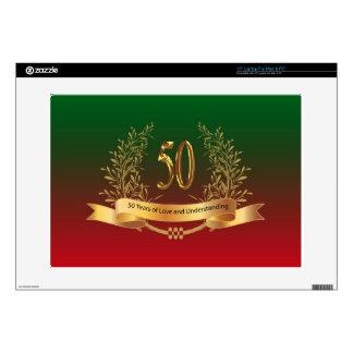Elegant 50th Wedding Anniversary Gifts Laptop Decal