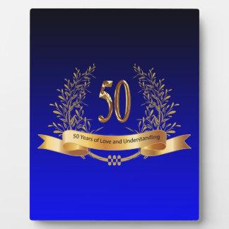 Elegant 50th Wedding Anniversary Gifts Plaque