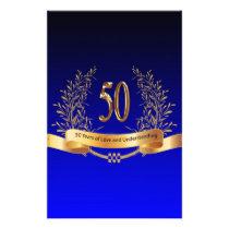 Elegant 50th Wedding Anniversary Gifts Stationery