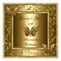 Elegant 50th Wedding Anniversary Gold Butterfly Card (<em>$2.20</em>)