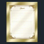 "Elegant 50th Wedding Anniversary Guest Letterhead<br><div class=""desc"">A Digitalbcon Images Design featuring a gold flourish frame and color design with a variety of custom images, shapes, patterns, styles and fonts in this one-of-a-kind &quot;Golden Wedding Anniversary&quot; Guest List Letterhead. This elegant and attractive design complements your &quot;50th Wedding Anniversary&quot; Photo Binder, adding pages of memories to your photo...</div>"