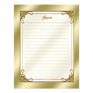 Elegant 50th Wedding Anniversary Guest Letterhead