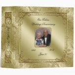 "Elegant 50th Wedding Anniversary Photo 2"" Binder"
