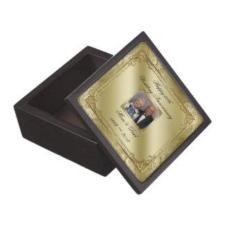 Elegant 50th Wedding Anniversary Photo Gift Box