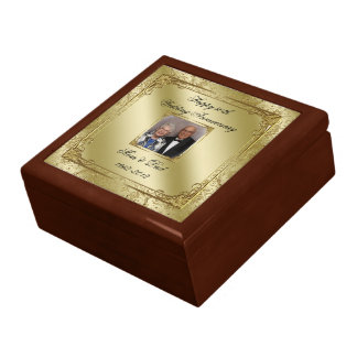 Elegant 50th Wedding Anniversary Photo Gift Box