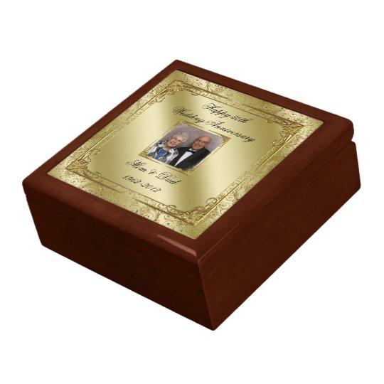 50th Wedding Anniversary Gift Etiquette: Elegant 50th Wedding Anniversary Photo Gift Box