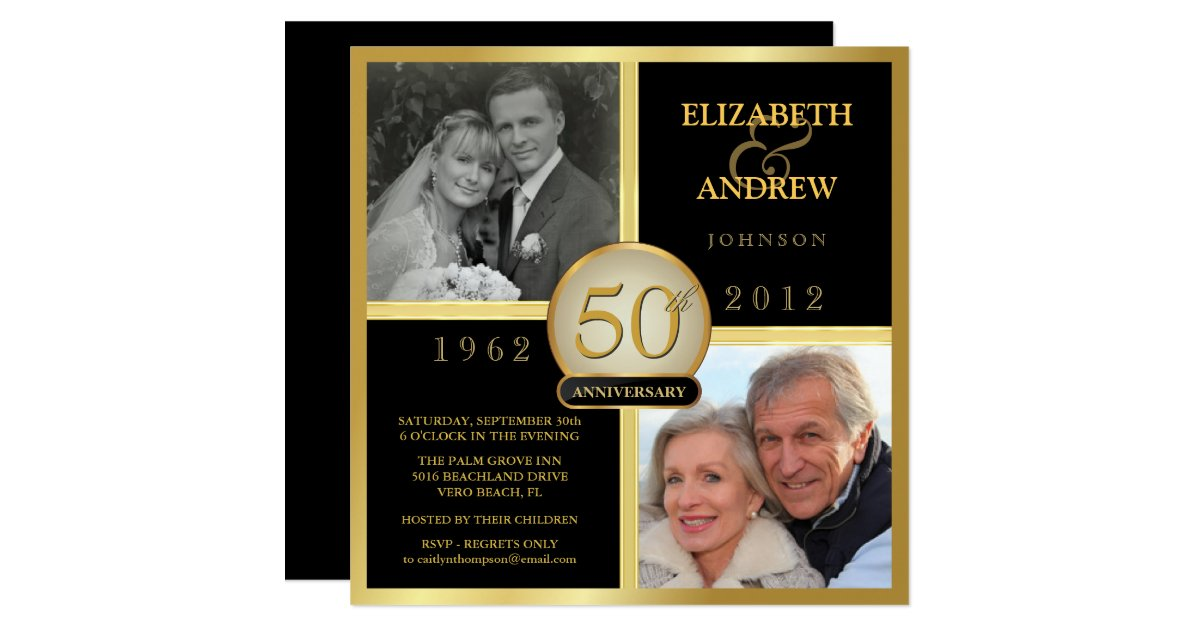 Diy 50Th Wedding Anniversary Invitations Wedding Invitation – Golden Wedding Party Invitations