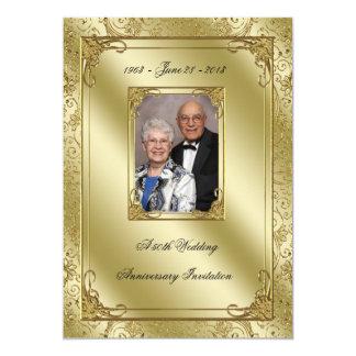 Elegant 50th Wedding Anniversary Photo Invite