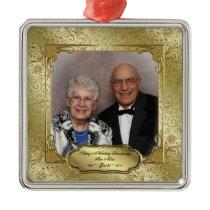 Elegant 50th Wedding Anniversary Photo Ornament