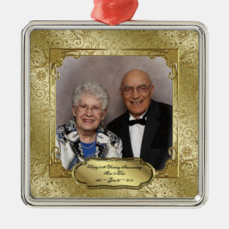 Elegant 50th Wedding Anniversary Photo Ornament