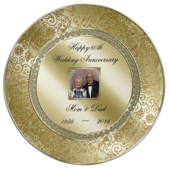 Personalised 50th Wedding Anniversary Gift : Elegant 50th Wedding Anniversary Photo Plate Zazzle