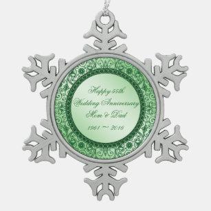55th Wedding Anniversary Christmas Ornaments Zazzle 100 Satisfaction Guaranteed
