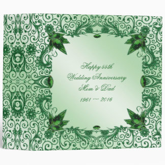"Elegant 55th Wedding Anniversary 2"" Photo Binder"