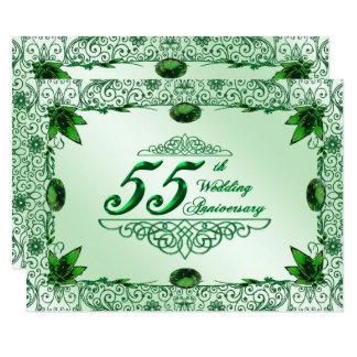 Elegant 55th Wedding Anniversary 5.5x7.5 Invite