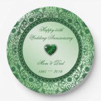 Elegant 55th Wedding Anniversary Paper Plate